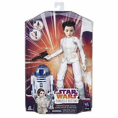 New Hasbro Star Wars Forces Of Destiny Princess Leia Organa & R2-D2 Set C1629