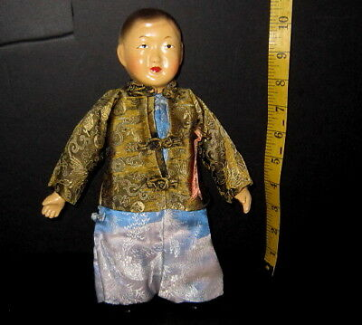 "Vtg. Celluloid Chinese 11"" Character Doll Michael Lee?Orig. Clothes/Excel. Cond!"