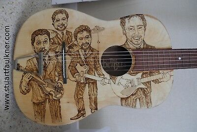 guitars pyrographed to order, like this genuine beadles guitar!!: prints 4 sale!