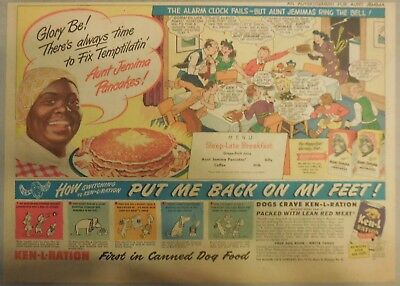 Aunt Jemima Pancakes Ad: There's Always Time To Fix Temptilatin' ! 1930-1940's