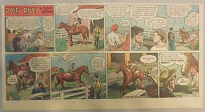 (26) Rusty Riley by Frank Godwin from 1948 Near Complete Year! From Page #1