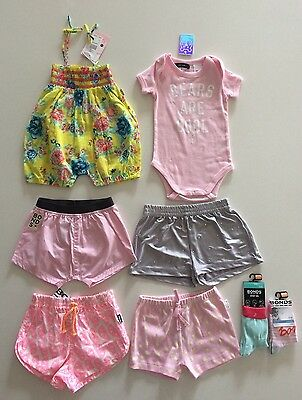 Bulk Bundle Baby Girl Summer Clothing Size 0 BNWT