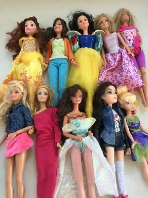 Barbie Fashion Doll Lot With Clothes Lot Of 10