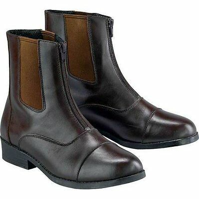 NEW Dublin Reserve Zip Leather Paddock Boots KIDS -Black 12, 13, 3 & Brown 12,13