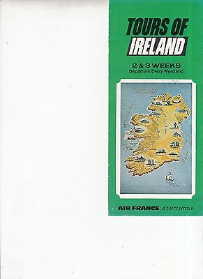 Vintage 1969 Air France Tours of Ireland pamphlet