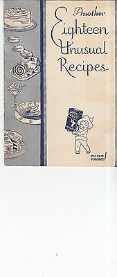 Vintage 1934 Jack Frost Another Eighteen Unusual Recipes booklet
