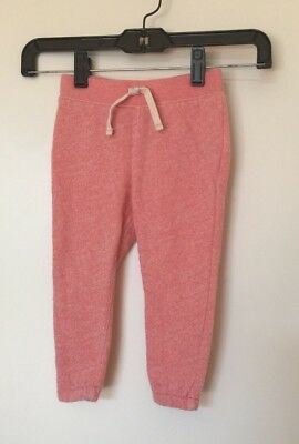 NEW Baby GAP Heathered Pink Girls Active Pants Joggers Sweat Pants SZ 2T