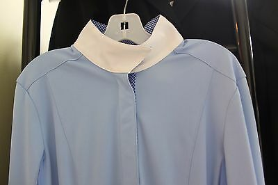 NEW FITS Shade Show Shirt Long Sleeve - Blue w/Blue Check - XS, S, M, L, XL
