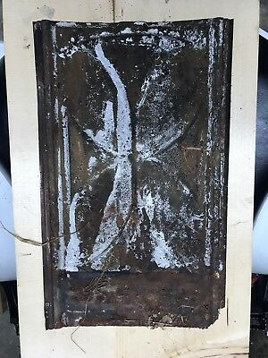 Old Antique ( Metal ) Tin ceiling tile wall tile 8x14 1900's