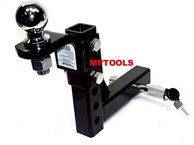 """10"""" Drop Hitch Mount 2"""" Receiver Adjustable  With 1-7/8"""" hitch ball and Pin Lock"""