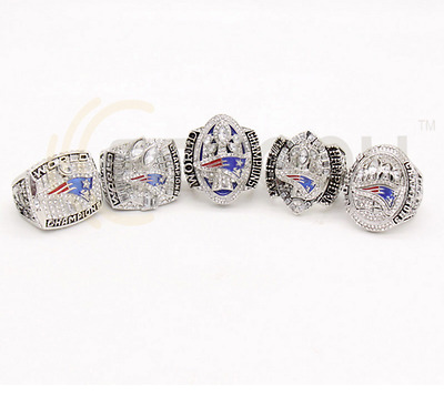 England Patriots Championship Rings New 2001 2003 2004 2014 2016-2017 Fan Gift