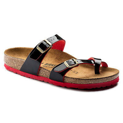 Birkenstock BF MAYARI $149rrp Two Tone Black (with Red) BNIB 1006680
