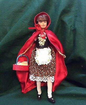 OOAK Barbie Skipper Little Red Riding Doll Handmade Collectors Collectible Fairy