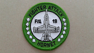 1 pc F/A 18 HORNET Emb. patch sew/iron on Dia. 3-1/8""