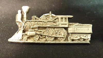 Steam Locomotive Lapel Pin. Has a Pewter Look.
