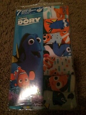 Disney Finding Dory 7 Cotton Briefs Toddler Boys Underwear Size 2T/3T Brand NWT