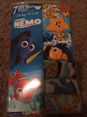 Disney Finding Nemo 7 Cotton Briefs Toddler Boys Underwear Size 2T/3T Brand NWT