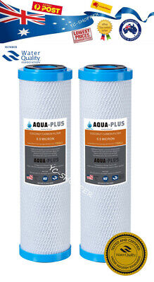 2 x TOP GRADE COCONUT CARBON WATER FILTER REPLACEMENT CARTRIDGES 0.5 MICRON