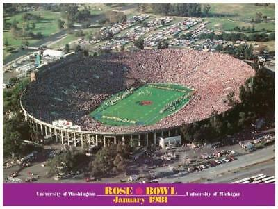 1981 Rose Bowl Poster Michigan vs Washington Huskies