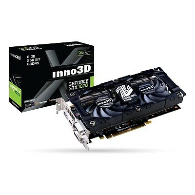 Inno3D GeForce GTX 1070 X2 V3 8GB Gaming Graphics Video Card GDDR5 4K VR Ready