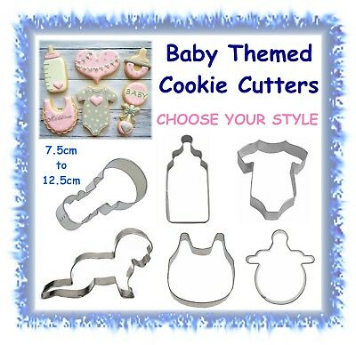 Baby themed cookie cutters - CHOOSE YOUR STYLE- baby shower cake cupcake fondant
