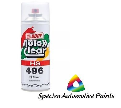 2K Gloss Clear Paint Hs 400Ml High Spray Touch Up Automotive Top Coat