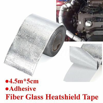 Silver Self Adhesive Aluminized Reflective Heat Shield Tape Wrapping Wrap 4.5M