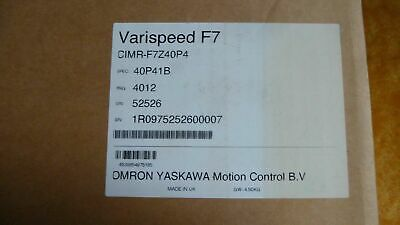 Omron Varispeed F7 Model: CIMR-F7Z40P4