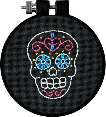 "Dimensions learn a craft  "" sweet sugar skull"" printed cross stitch kit"