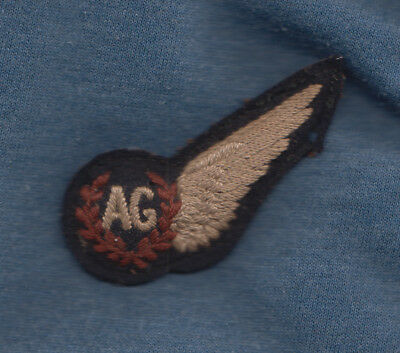 Original Ww2 Raf Air Gunners 1/2 Wing Brevet Badge