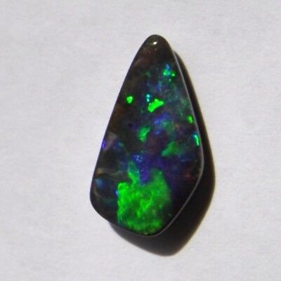 Natural Solid Boulder Opal 3.90Ct Loose Stone Green Bule Purple Freeform