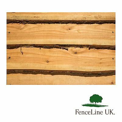 10 Pack 15mm Weany Edge Timber Cladding 2.4m Long Live edge Shed Garden Fence