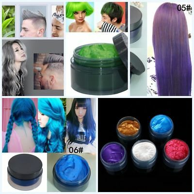 Unisex DIY Hair Color Wax Mud Dye Cream Temporary Modeling 7 Colors Available