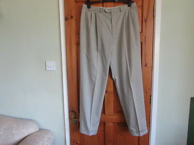 M&S northern soul / 50s twin pleated turn up trousers W 36 X L 33