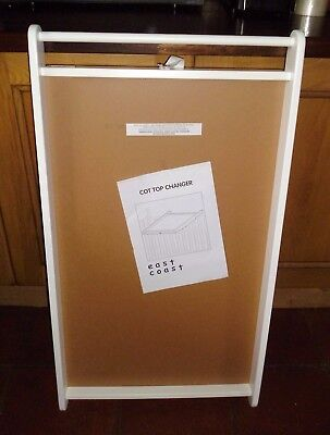 East Coast Deluxe Cot Top Changer + Towel Rail And Changing Mat