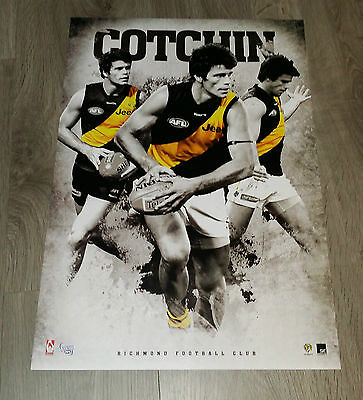 Official Afl Richmond Tigers Trent Cotchin Sports Player Print Poster