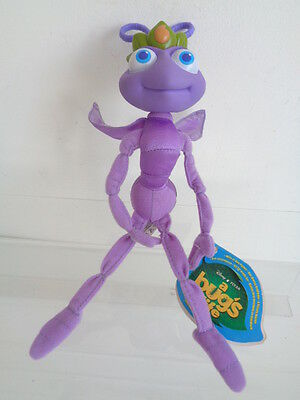 "A Bugs Life - 9"" Princess Atta The Ant Soft Toy - Plastic Head - New With Tag"