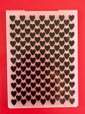 NEW• HEART LINES EMBOSSING FOLDER For Cuttlebug Or Sizzix