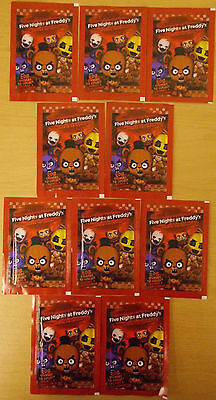 Five Nights At Freddy's ~ Sticker Collection 10 x Sealed Packs = 60 Stickers