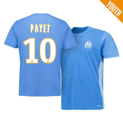 Kids 11-12Y Olympique de Marseille Away Shirt 2017-18 with Payet 10 MA1