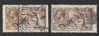 Great Britain Sg 414 - 450 X 2 - 451 Selection Of Seahorses Used See Scans