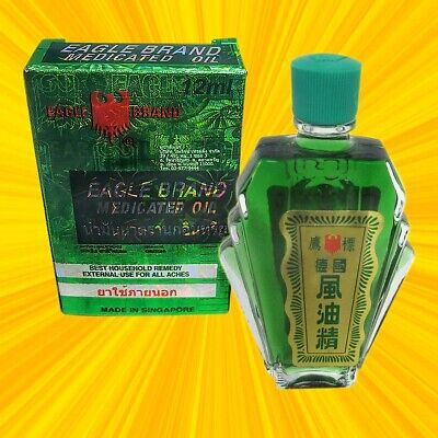 1 x 12 ml huile eagle brand medicated oil / 1x12ml eagle brand oil singapore