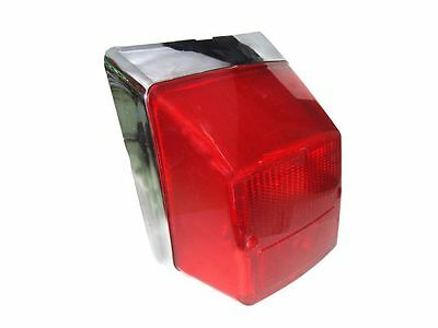 Chrome Tail Lamp Back Light Fits Vespa Px Pe Stella Lml 4T/4S Models