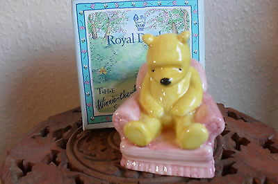 """Royal Doulton """"WINNIE THE POOH IN THE ARMCHAIR"""" WP4 with Rare 70th Backstamp"""