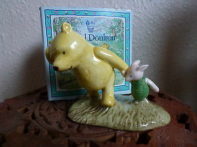 """Royal Doulton """"POOH & PIGLET - THE WINDY DAY"""" WP2"""