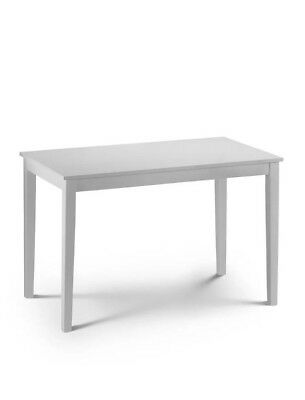 Taku Satin White Rectangle Dining Table By Julian Bowen New Tak001
