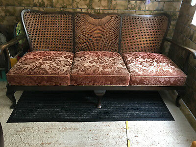 Sofa Chippendale Imitat Couch rotbraun  160 cm