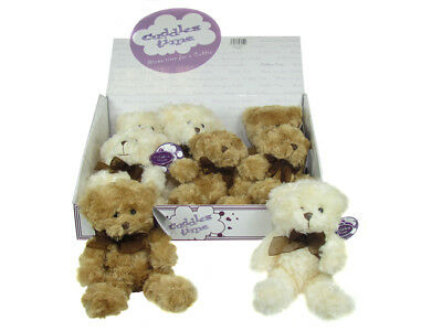 "Brand New Plush 6"" inch Teddy Bear - Beige Brown Kids Christmas Gift Cuddle Time"