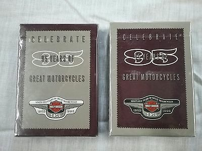 Harley Davidson Playing Cards 2 Factory Sealed Decks 95th Year Anniversary