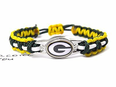Green Bay Packers armband-nfl charm-kinder, Ladies, Men Paracord i-verstellb
